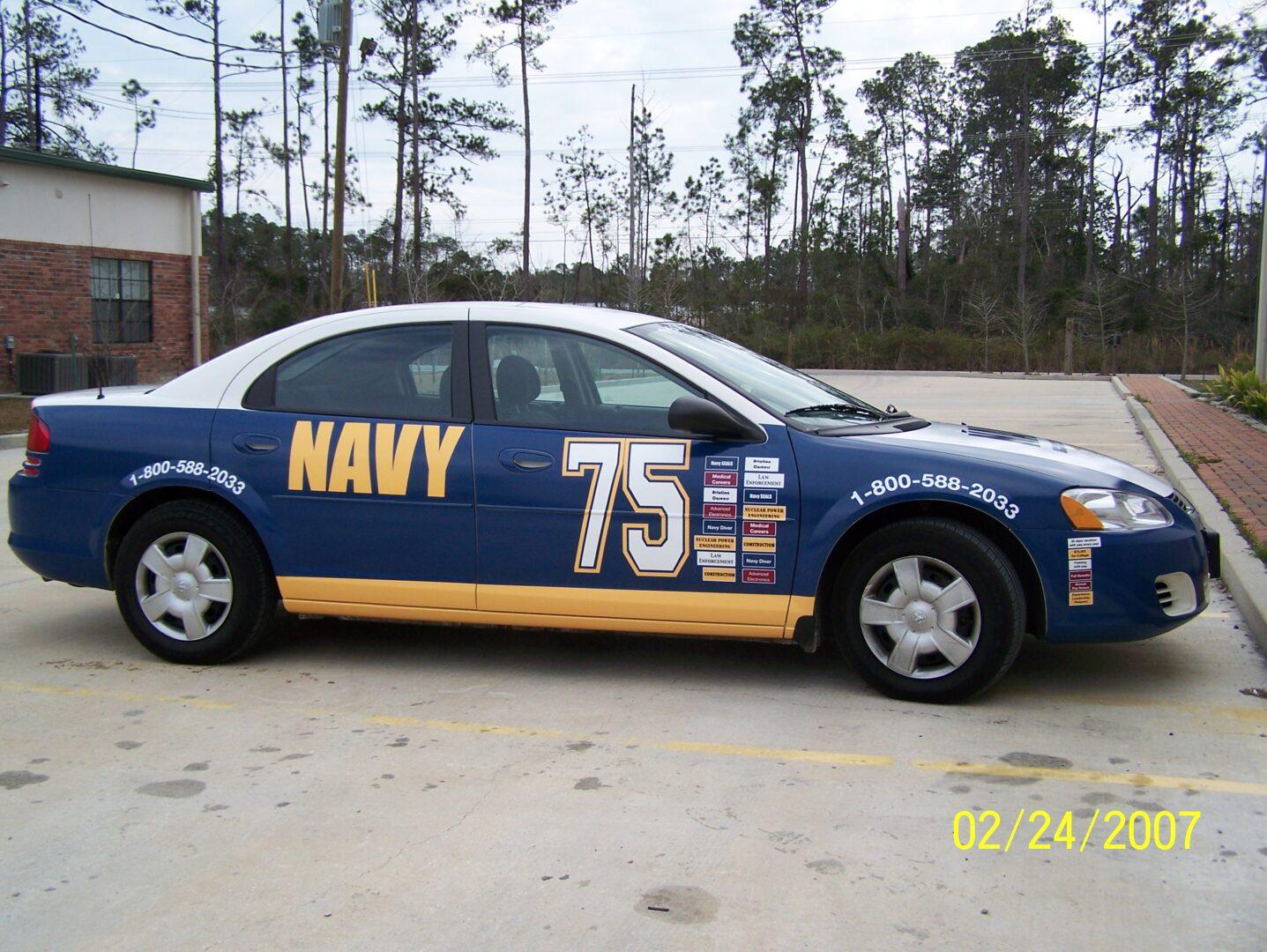 Fleet Graphics Slidell, LA Trailer Wraps SEI HQ Navy 75