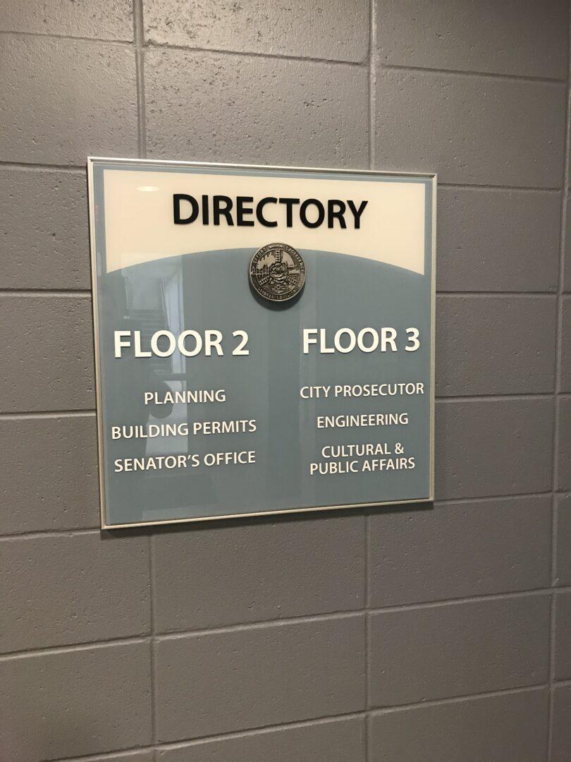 Directory Plaque