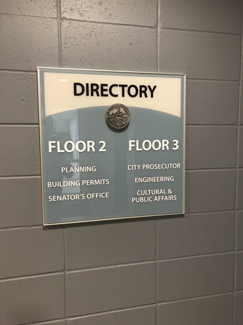Directory Plaques Stairwell Signs SEI HQ