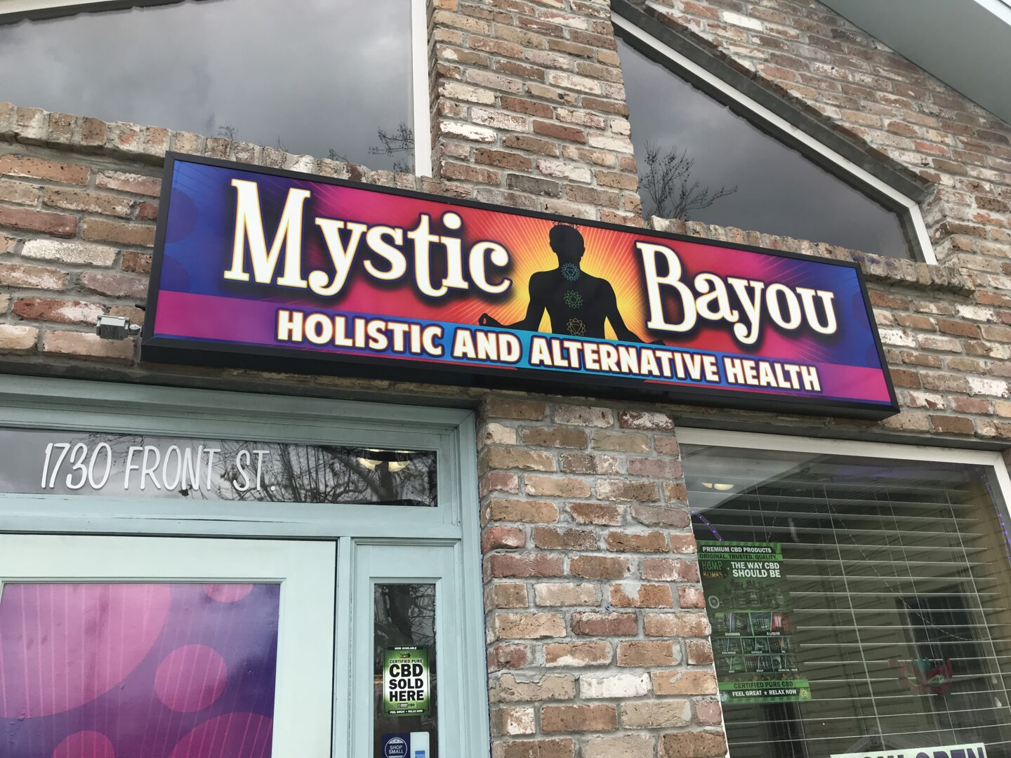 Lighted Signs Slidell, LA Commercial Signage SEI HQ Mystic Bayou