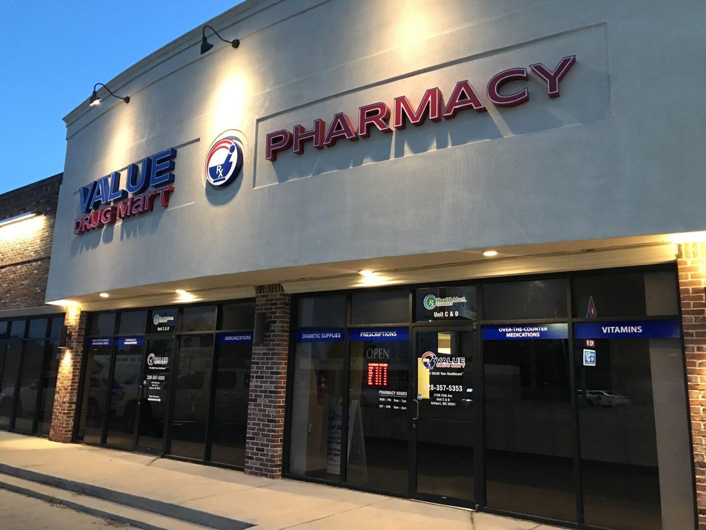 Value Drug Mart Pharmacy Dimensional Sign