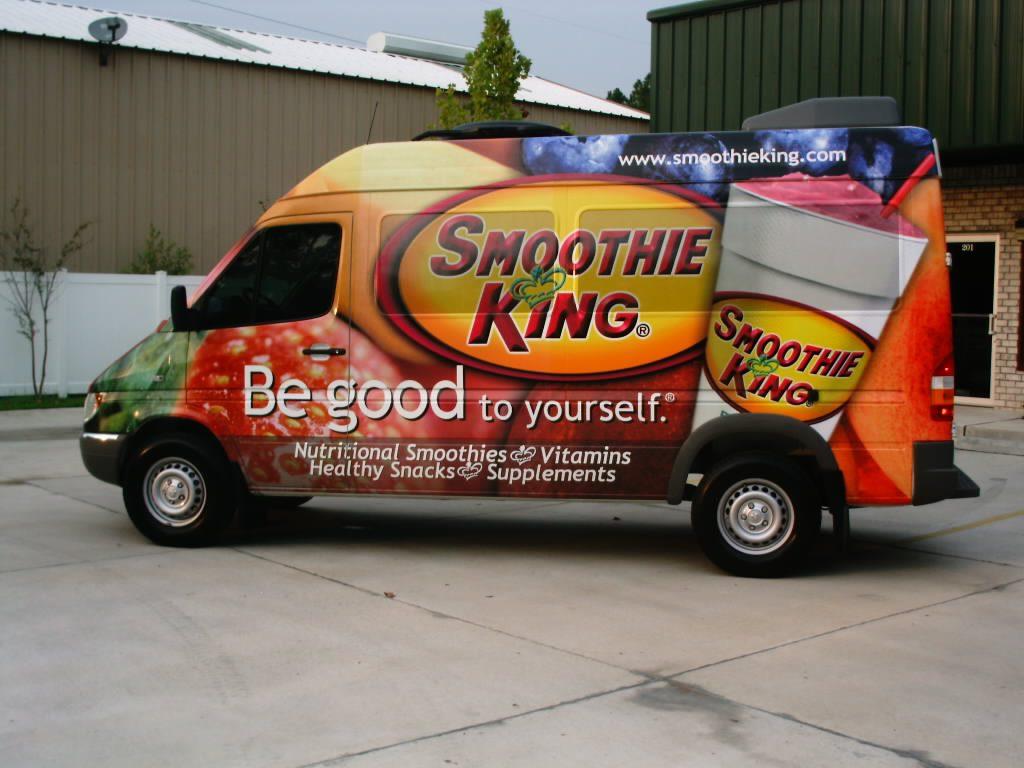 Fleet Graphics Slidell, LA Trailer Wraps SEI HQ Smoothie King