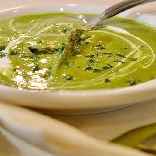 Asparagus & Sorrel Soup