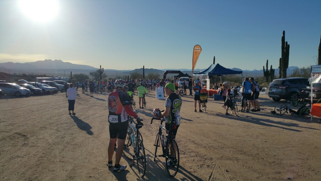 Coe Van Loo cyclists ready to start the MS 150 bike event.