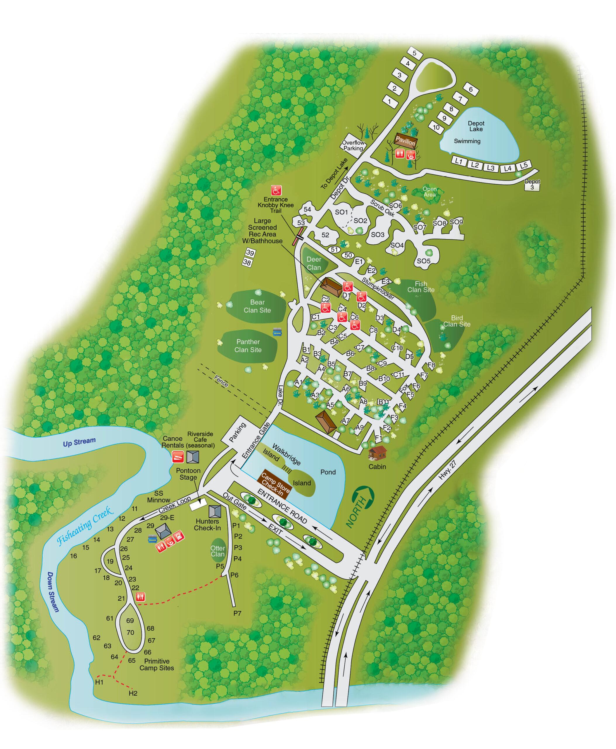 Fisheating Creek Map 2021