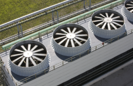 aerial view cooling tower fans - cooling tower experts