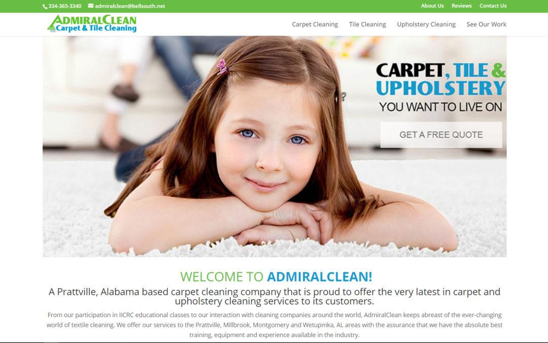 Admiral Clean Custom Website Design and Branding Carpet Cleaning Prattville & Millbrook, AL