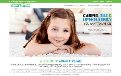Admiral Clean Website Design Prattville, Millbrook, Montgomery, and Wetupmka, AL