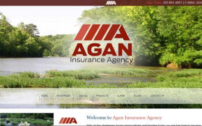 Agan Insurance Company Custom Website Design and Branding Pelham, AL