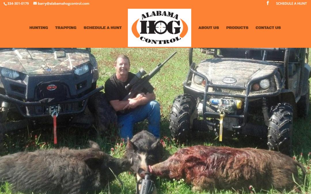 Alabama Hog Control Website Design for Montgomery and Prattville Areas