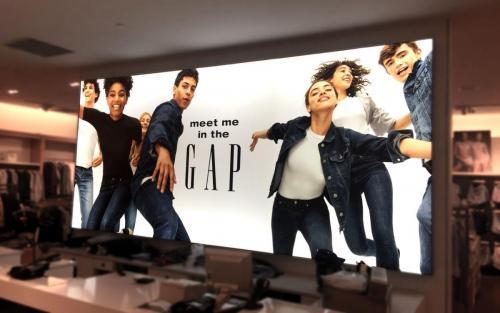 The Gap backlit