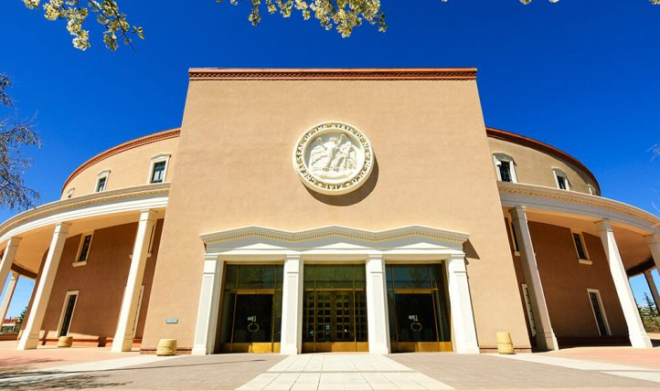 New Mexico state capital building.