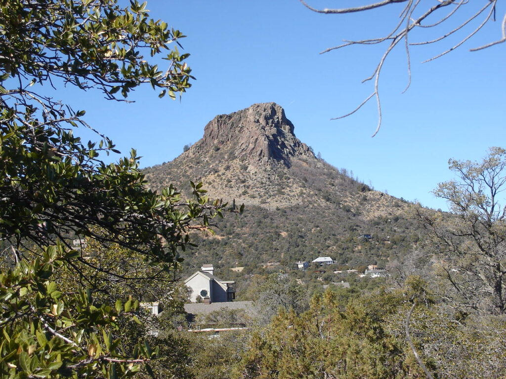 View of thumb butte,