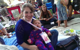 Cristina and Scott's Daughter (Sage) Supporting the San Jose Jazz Festival