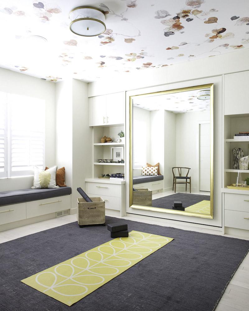 at home gym inspiration orange moon interiors