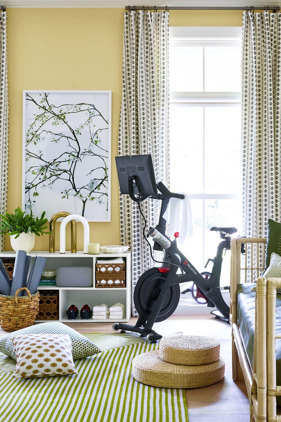 at home gym orange moon interiors