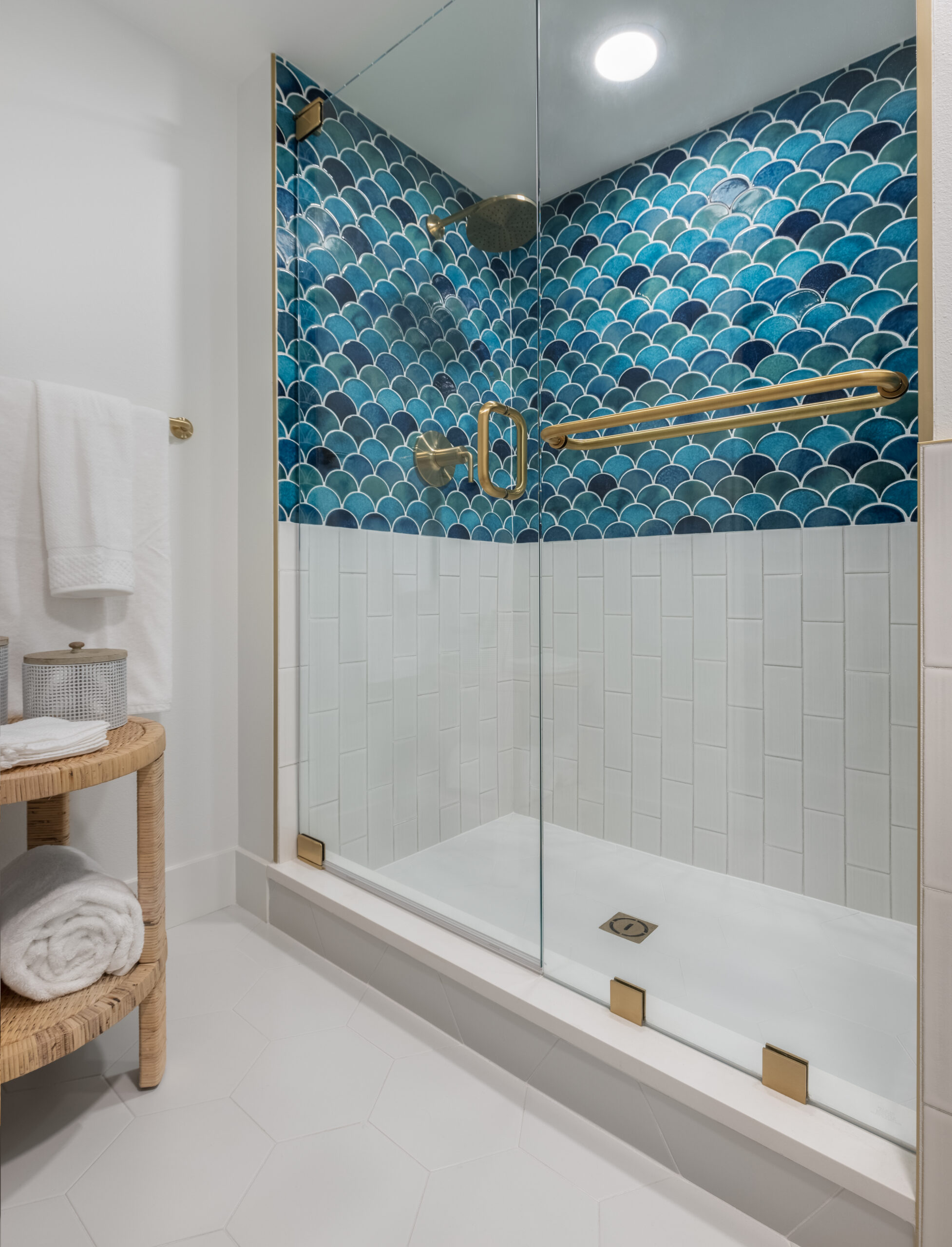 orange moon interiors master shower longboat key