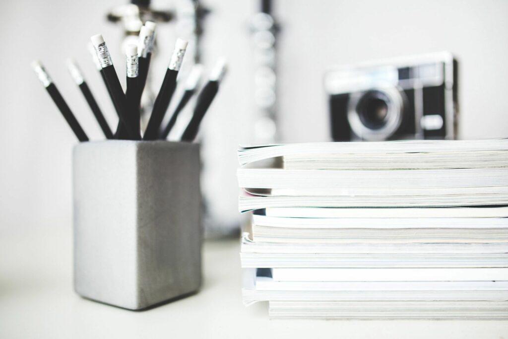 photo of desk accessories