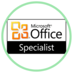 Icon for Specialist in Microsoft Office Suite with the Microsoft Logo