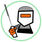 Icon for Vocational - a graphic of a welder within a green circle border