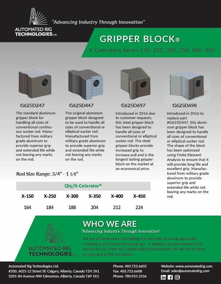 Continuous Rod Gripper Block