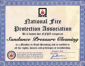 CERTIFIED MEMBER OF THE NFPA