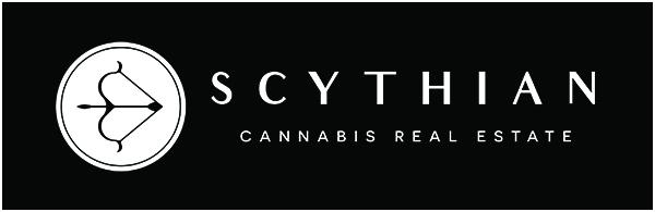 The Scythian RE logo in white on black