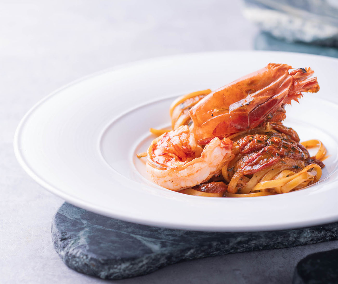 AMMO's Carabineros Red Prawn Linguine 4