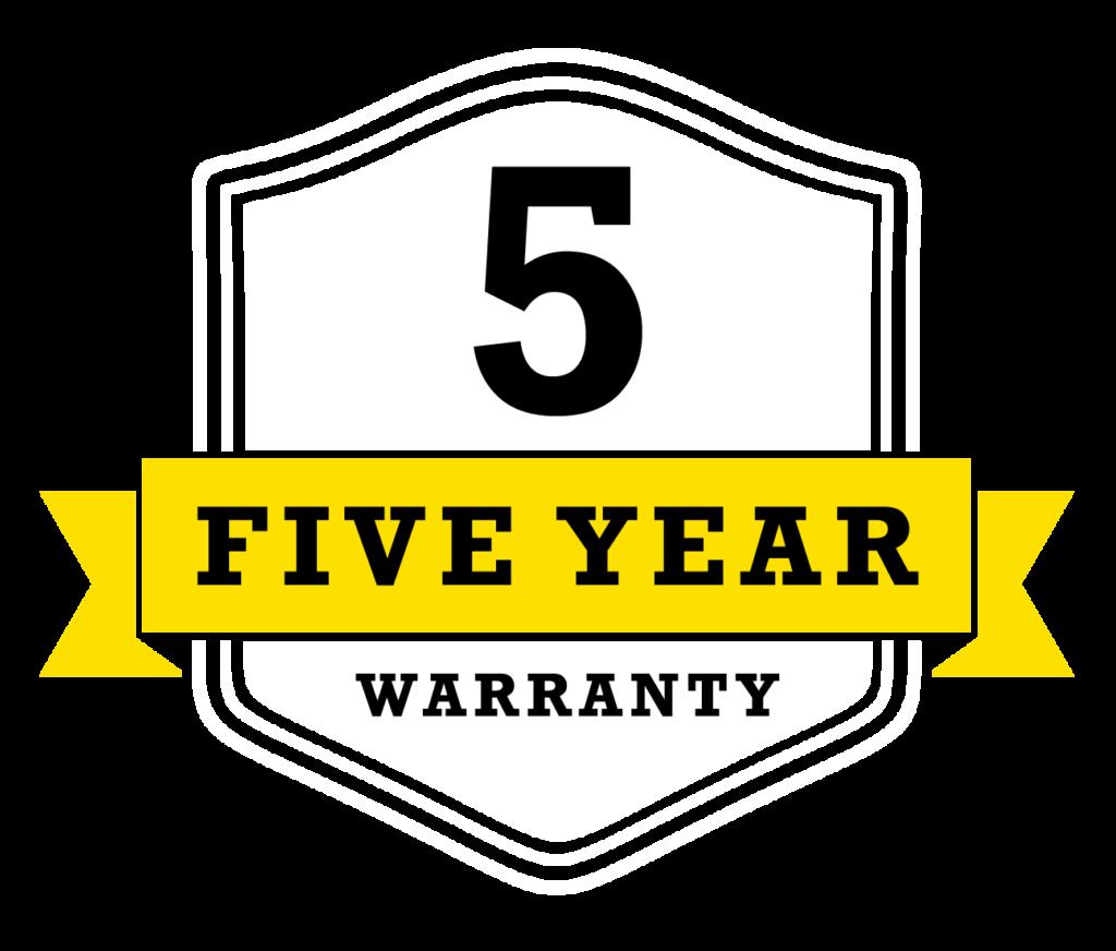 Five Year Installation Warranty Badge