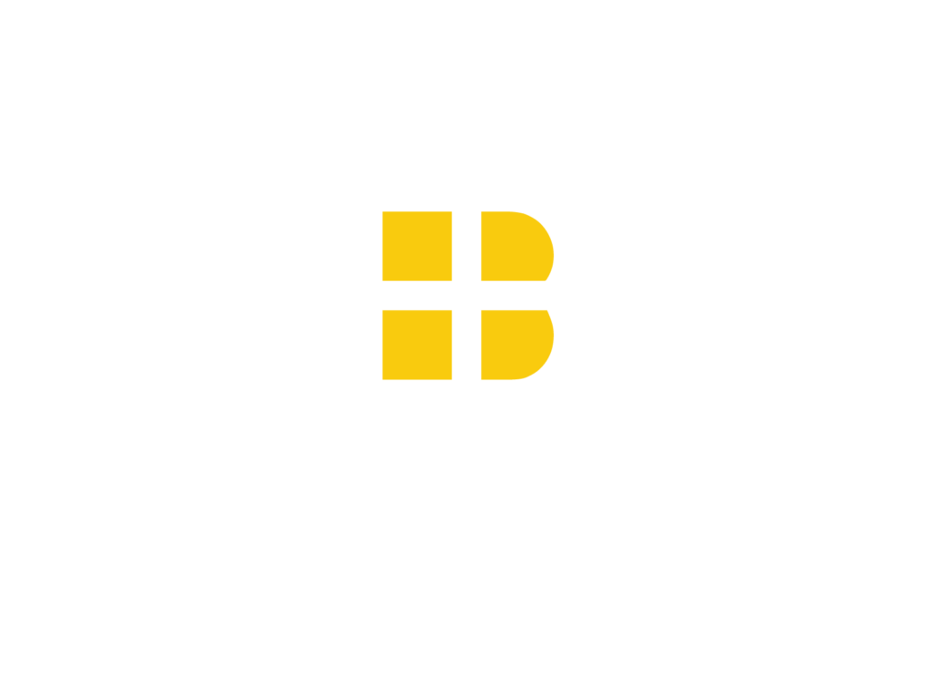 Barrier Roofing Logo White & Yellow