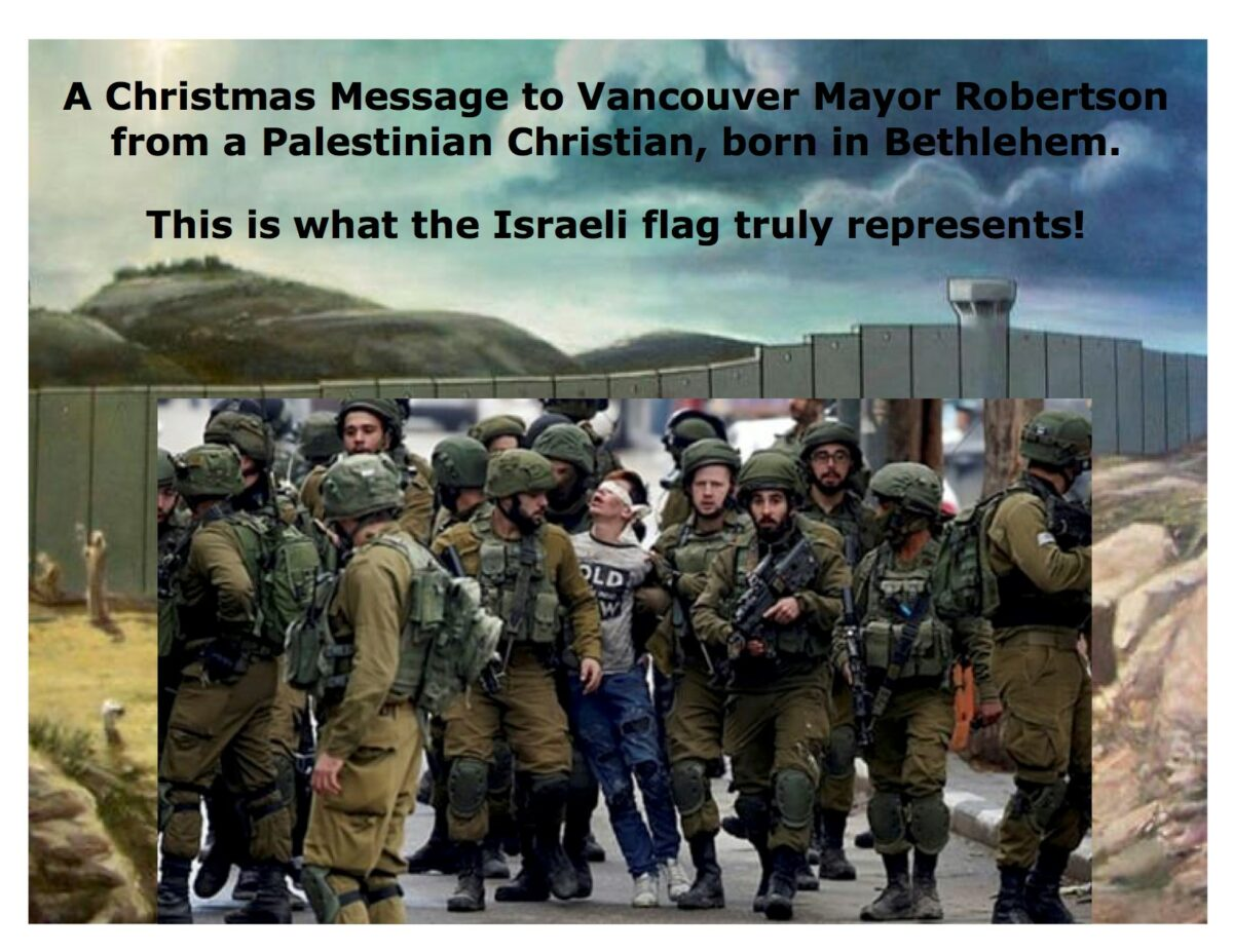 Vancouver Mayor Bows to Zionist Pressure