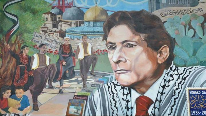 A painting depicting Edward Said