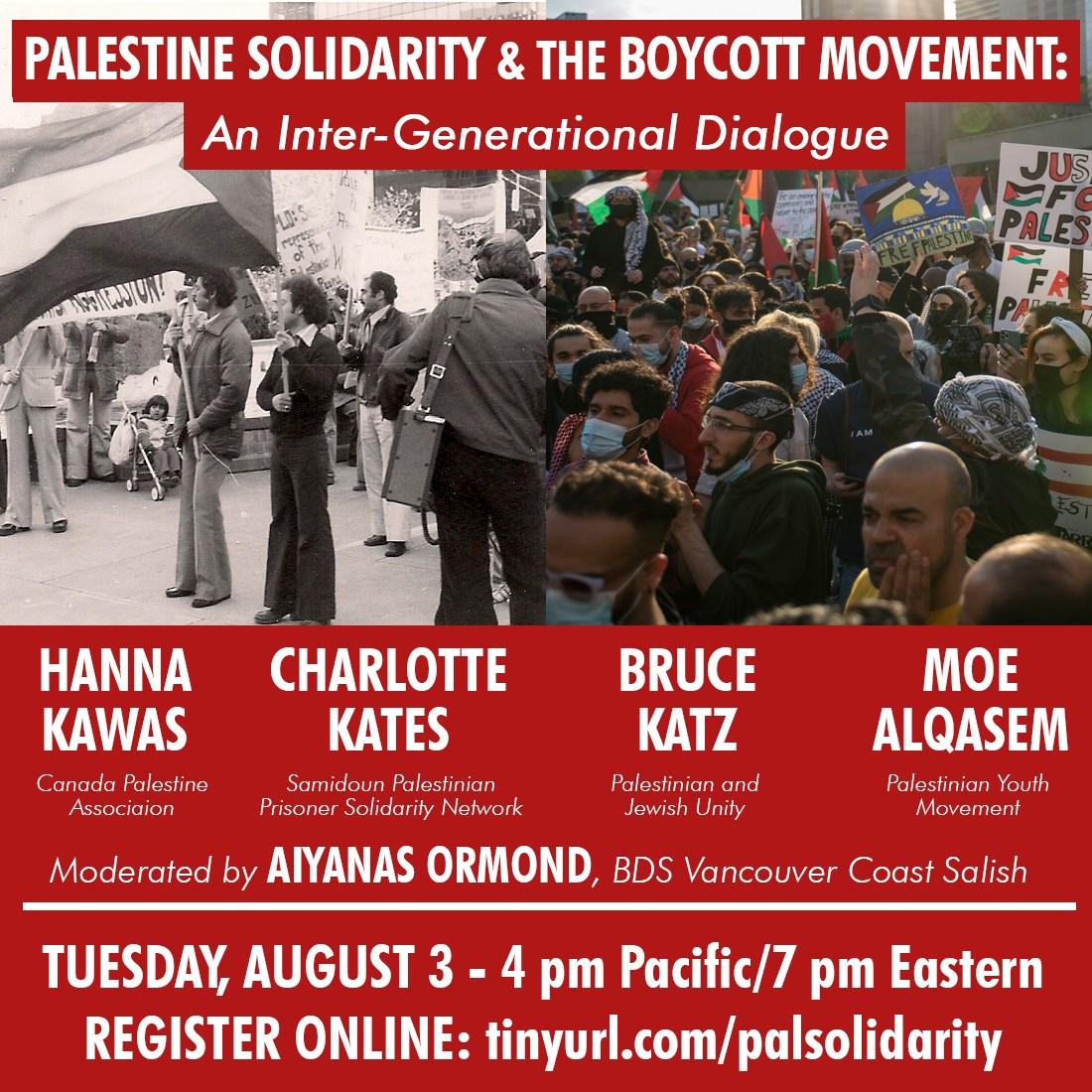 Palestine Solidarity:              An Inter-Generational Dialogue