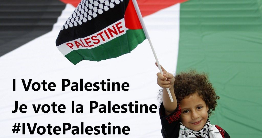 #IVotePalestine