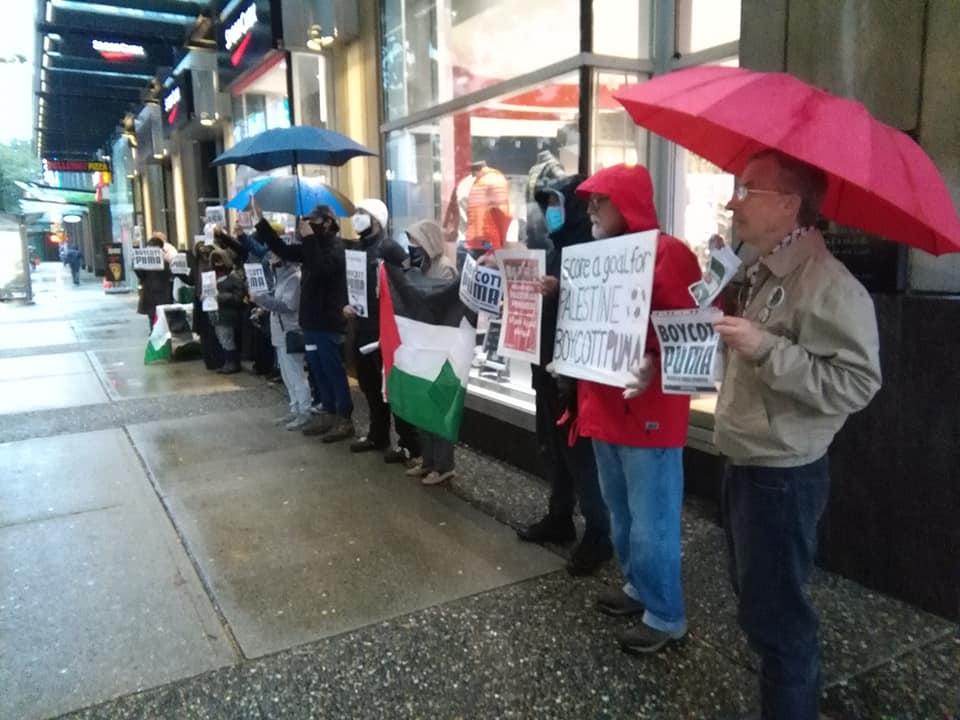 #BoycottPuma Picket in Vancouver