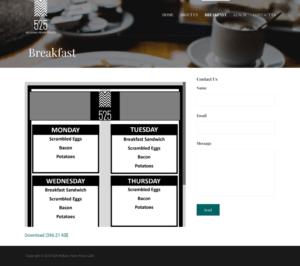 William Penn Place Website Breakfast