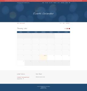 CCNA Website Event Calendar