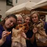 2009 Eating pretzels
