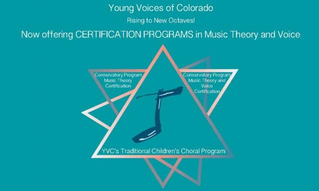 Now Offering CERTIFICATION PROGRAMS in Music Theory and Voice! @ Young Voices of Colorado | Englewood | Colorado | United States