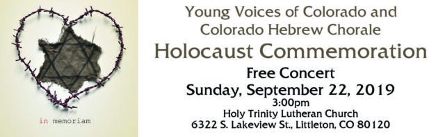 Holocaust Commemoration Concert @ Holy Trinity Lutheran Church | Littleton | Colorado | United States