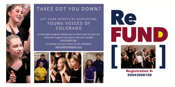 ReFUND - Donate to YVC on your state tax form