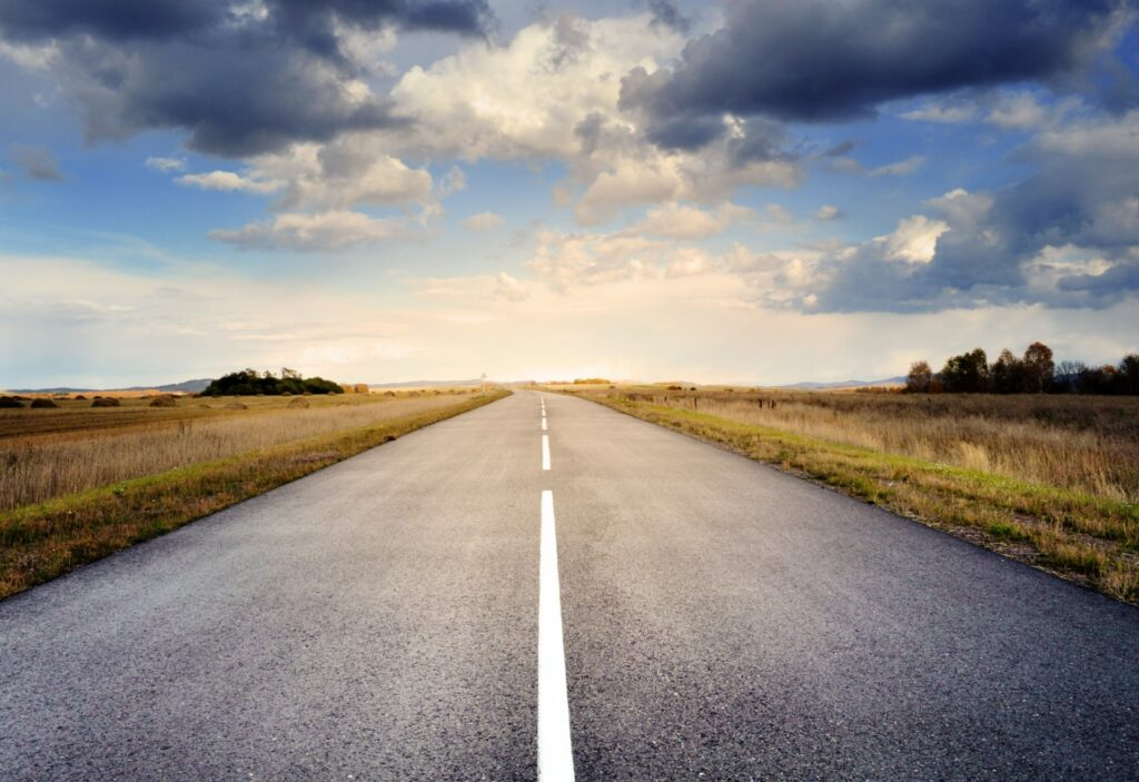an image of an open road