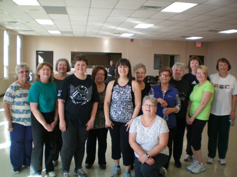 Rose with her Fitness class