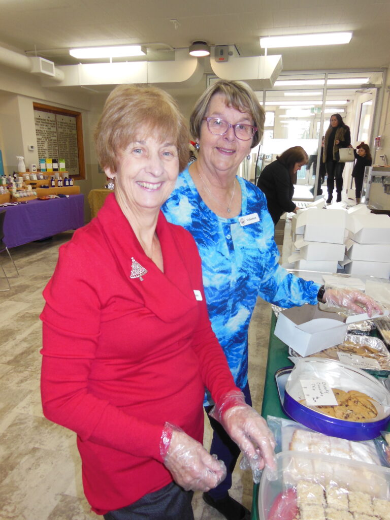 Carol & Dianna at the cookie sale