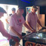 Michael Eavis Playing Pinball