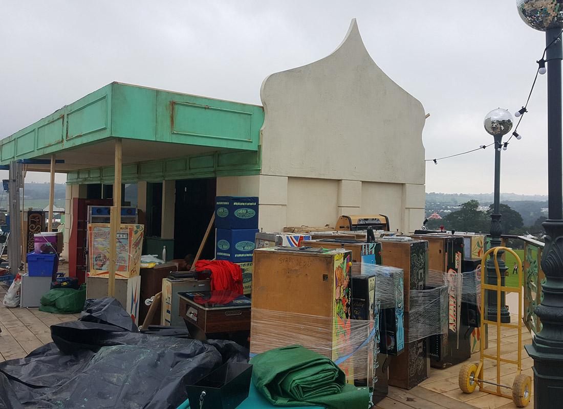 Pinball Arcade Glastonbury Set Up