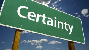 certainty graphic