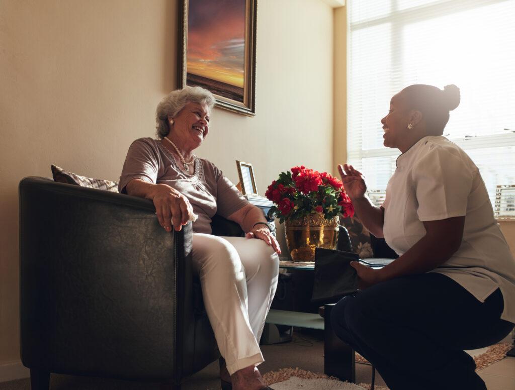 Caregiver companionship in home