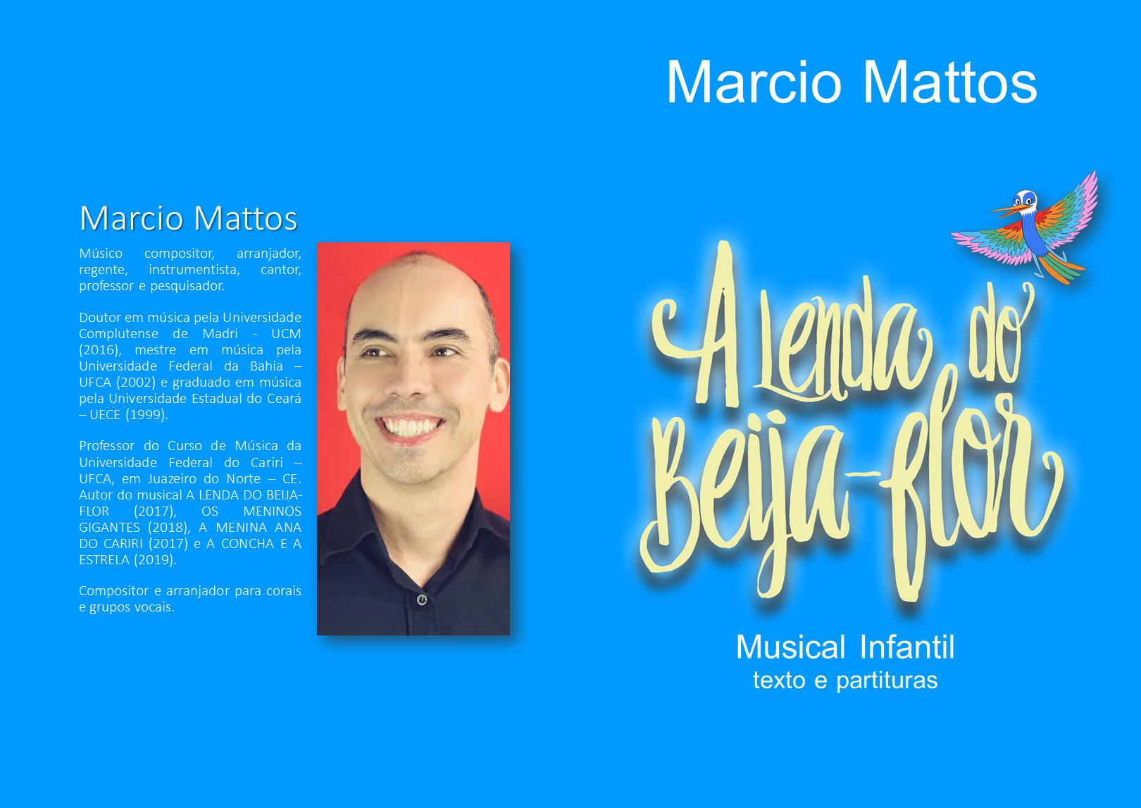 Capa do livreto do musical A lenda do beija-flor