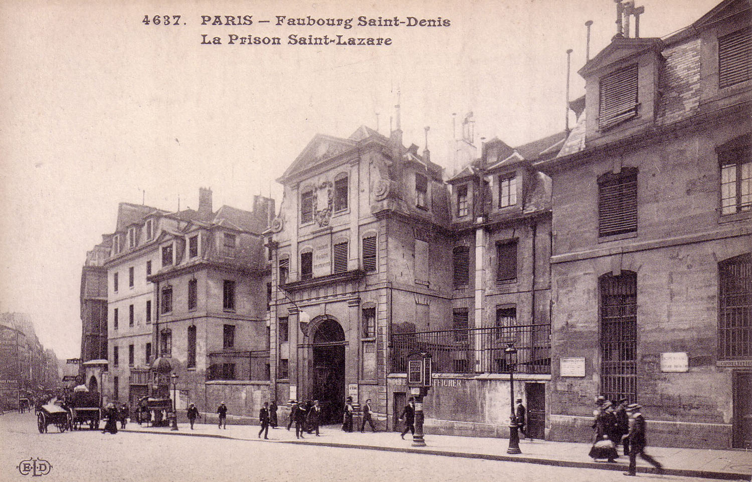 Prison-Saint Lazare, façade, looking south
